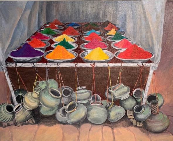 At the Market: Colours and Pans