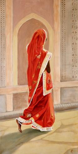Red and Gold Sari