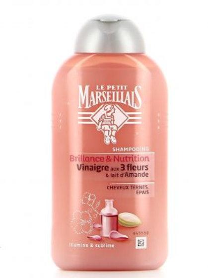 Le Petit Marseillais Shampooing 250Ml Brillance&Nutrition 3 Fleurs&Lait