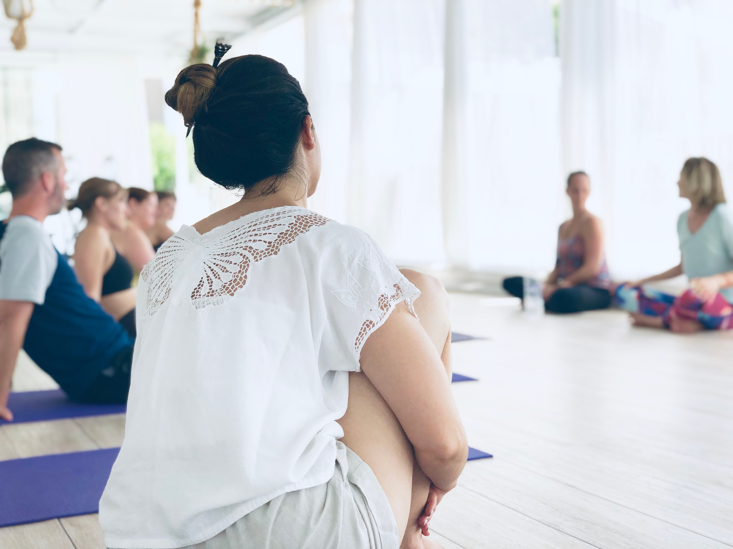 Group Discussion in Yoga Shala