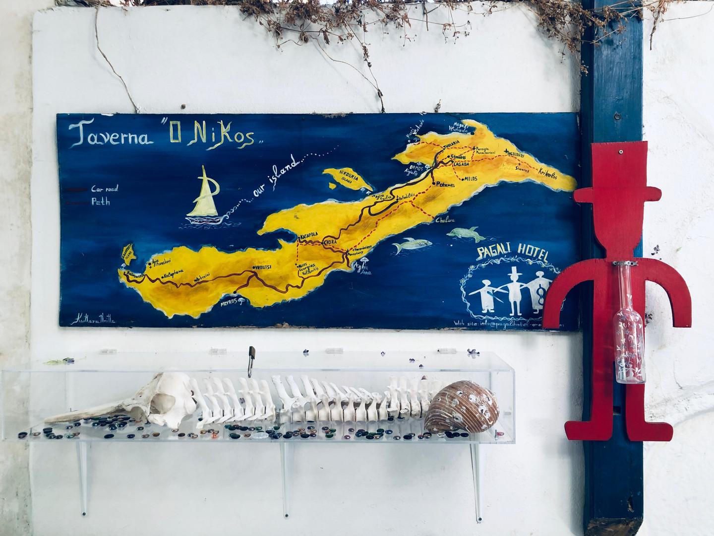 Map of Amorgos