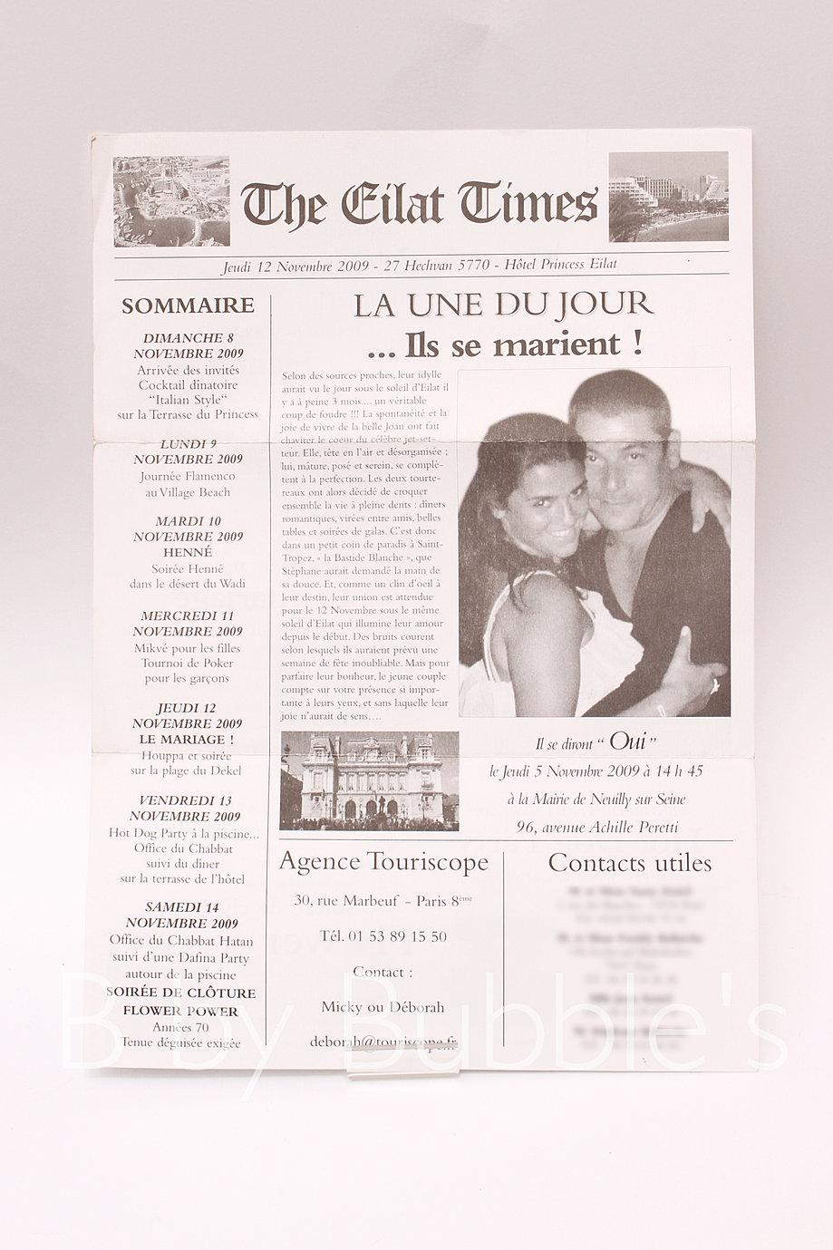 Préférence Faire part mariage facon journal – Blog photo de mariage en 2017! JR16