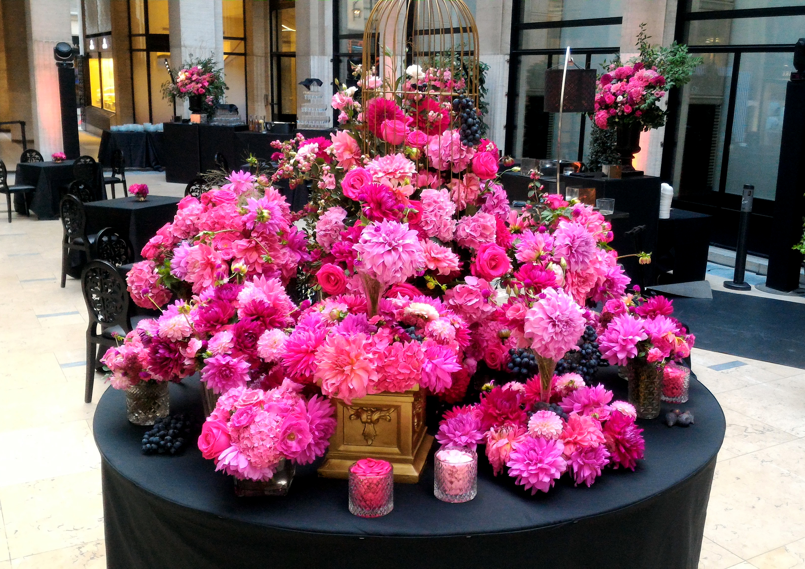 décoration florale, cherry, evenement