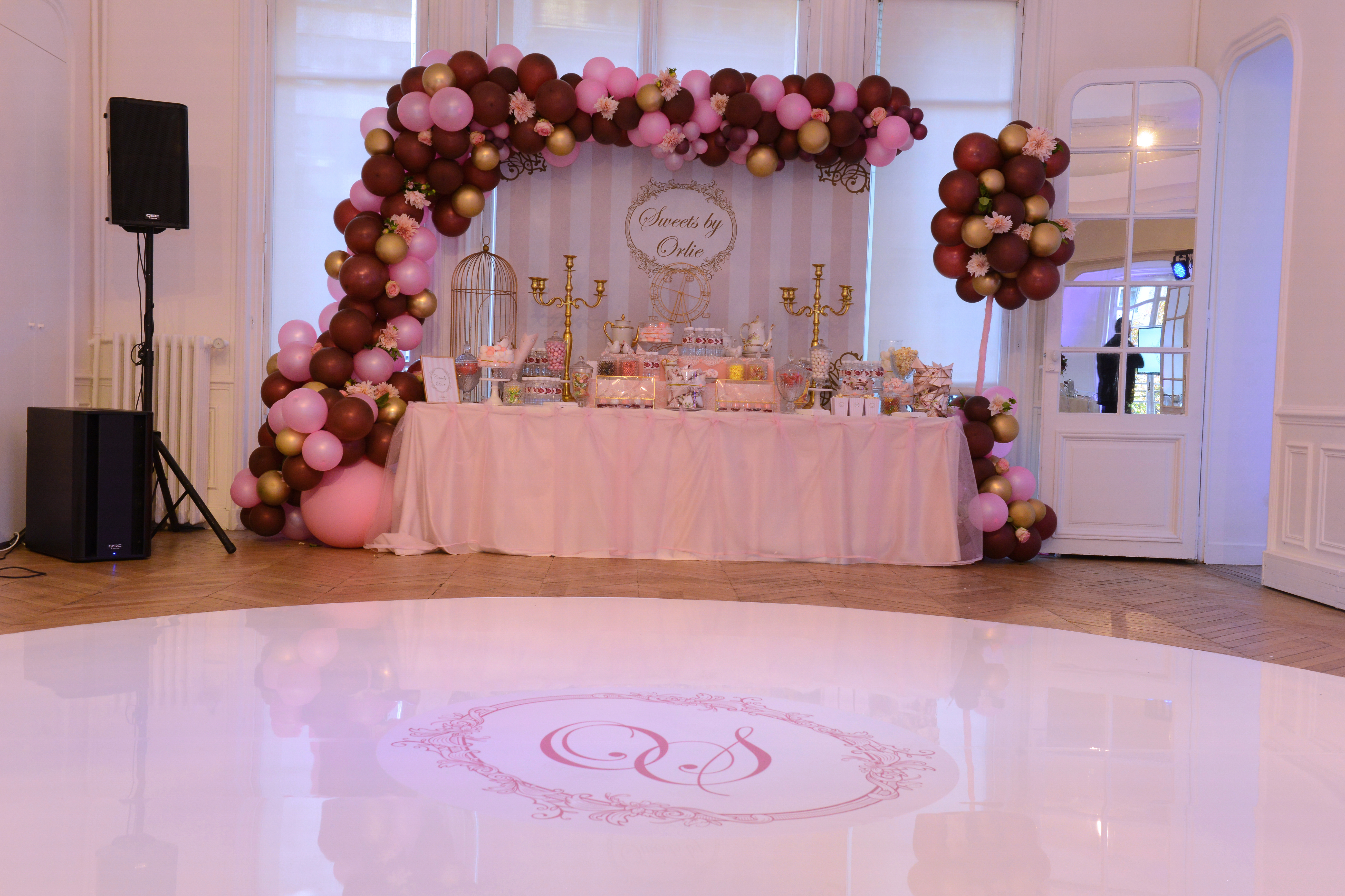 reception, décoration, ballons, girly