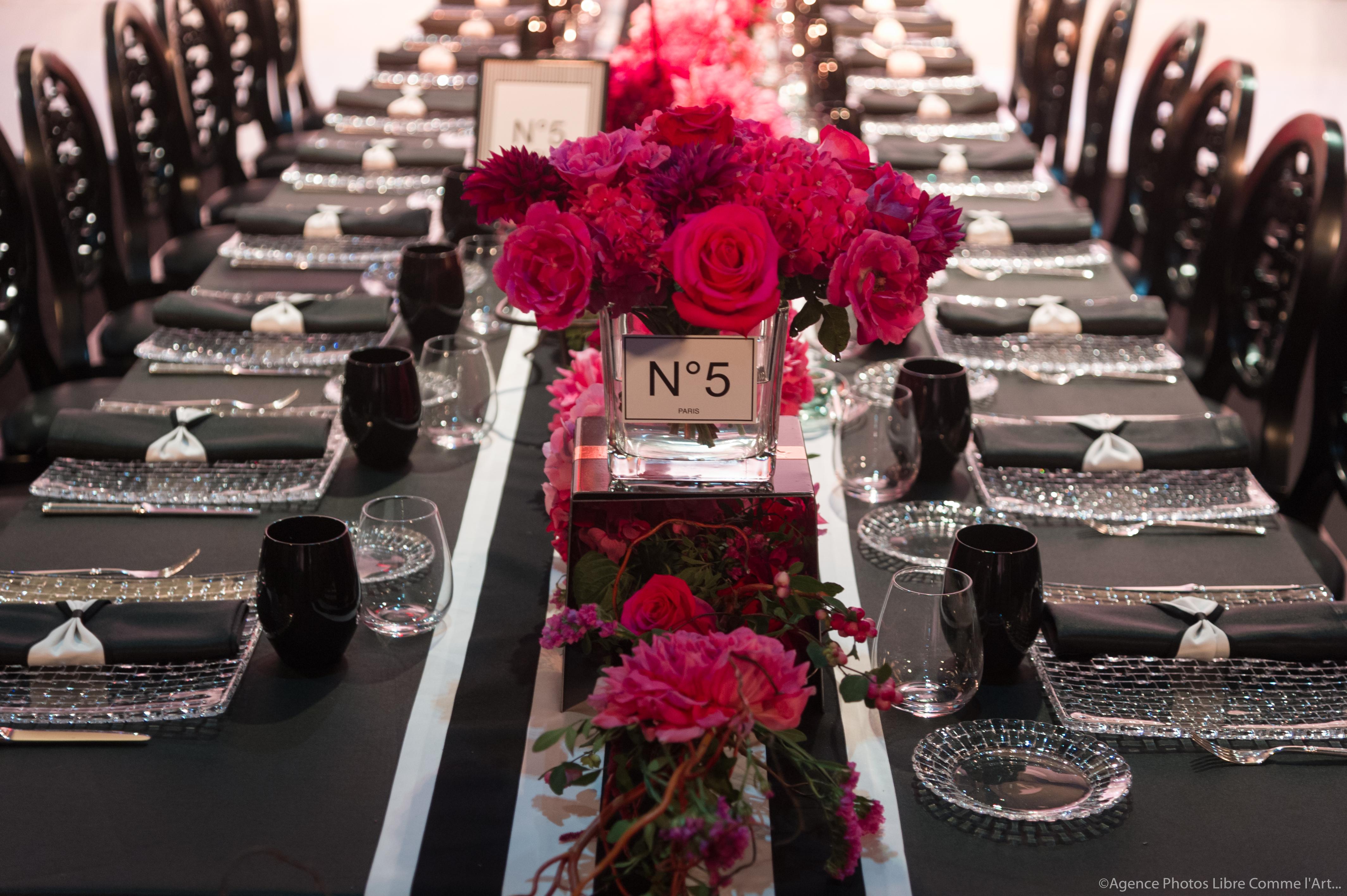 reception, décoration florale, table