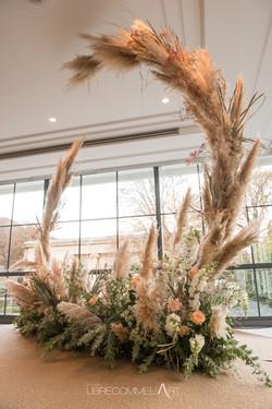 houppa, pampa, décoration sur mesure, bat mitzvah, flowers, fleurs séchées