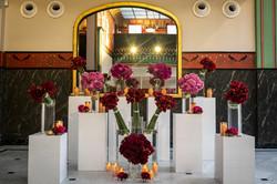 reception, wedding, florale, décoration florale