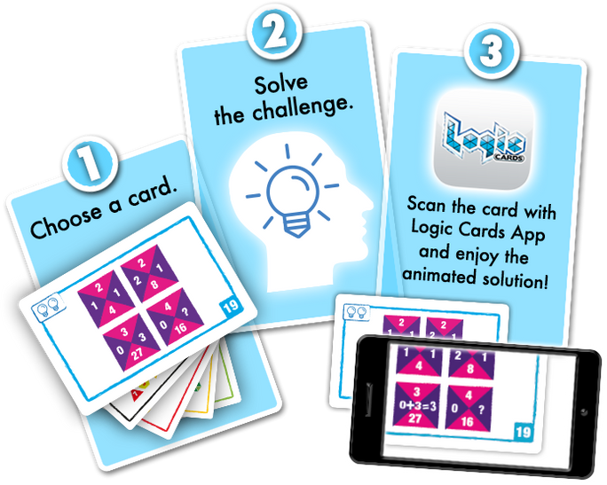 Logic Cards game by Brain Games publishing
