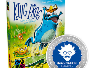 King Frog Receives the Family Silver Award 2017 from Imagination Gaming