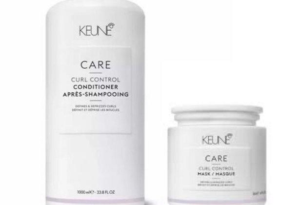 Keune Care Curl Control Shampoo 1 litro + Máscara de Nutrição 500ml