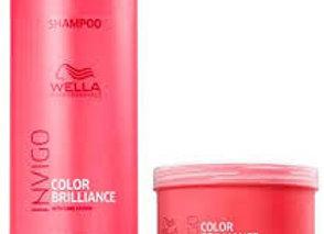 Shampoo 1 litro +Máscara 500 ml Wella Color Brilliance