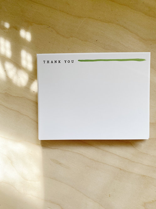 thank you Flat Notecard Set painted