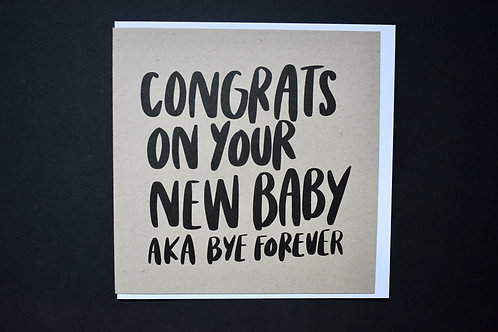 Congrats on Your New Baby... Square Card
