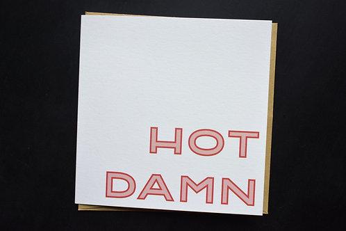 Hot Damn Square Card