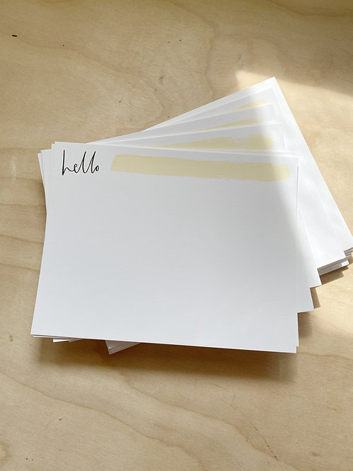 hello Flat Notecard Set painted