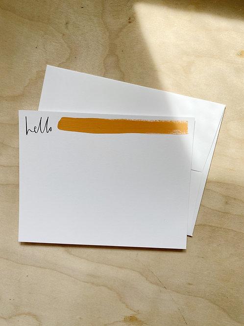 hello Flat Notecard Set painted
