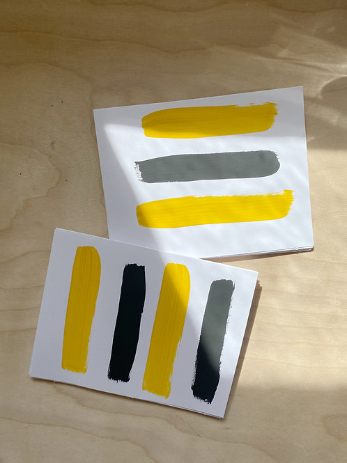 Hand Painted Card Set