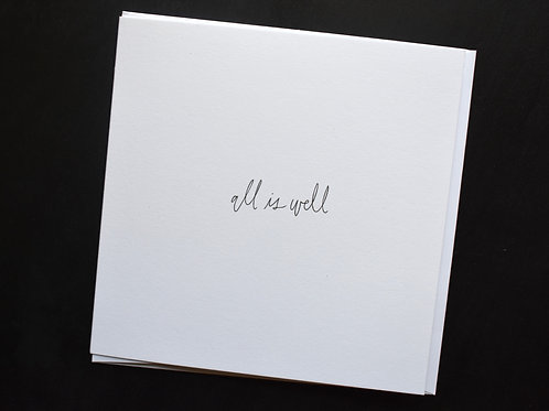 All is Well Square Card