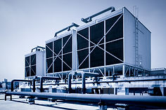 Sets of cooling towers in data center bu