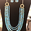 Thumbnail: Turquoise and gold four strand necklace and earring set