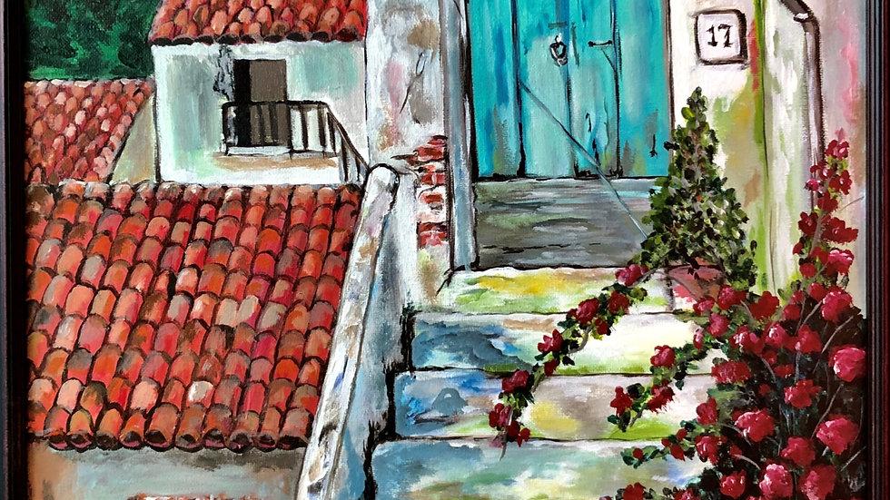 Turquoise Tuscan Door
