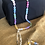 Thumbnail: Multi colored beaded necklace and matching earrings