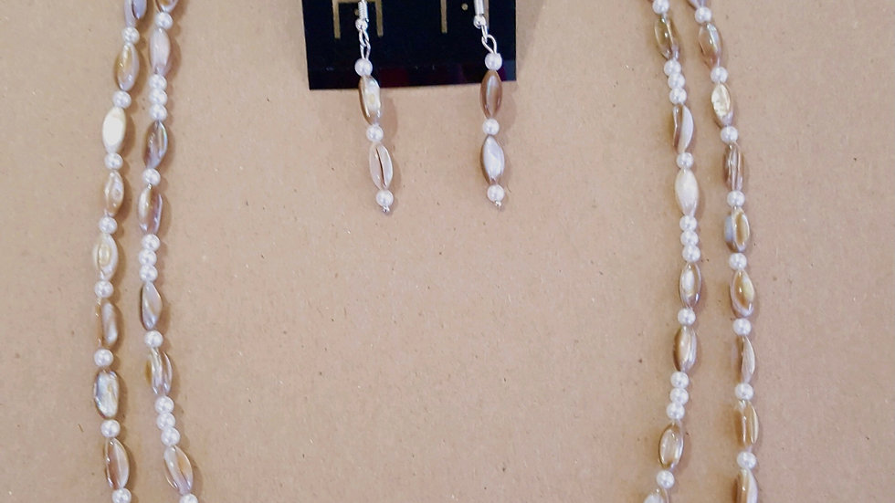 Two Strand Necklace with Earrings