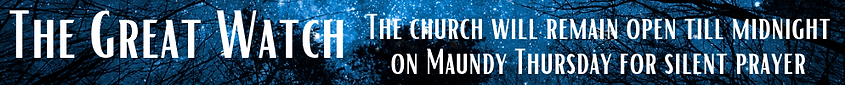 The church will remain open for prayer T