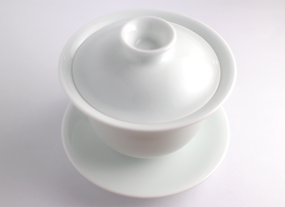 Big Handmade White Porcelain Gaiwan   手拉白色蓋杯