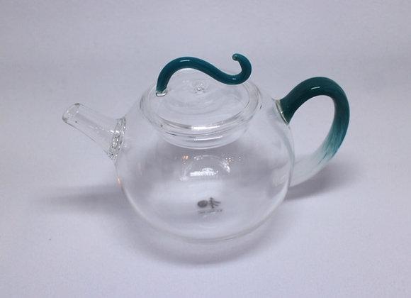 Glass Teapot 藍飛鈕玻璃壺