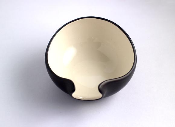 Black Porcelein Tea Holder    茶荷(黑)
