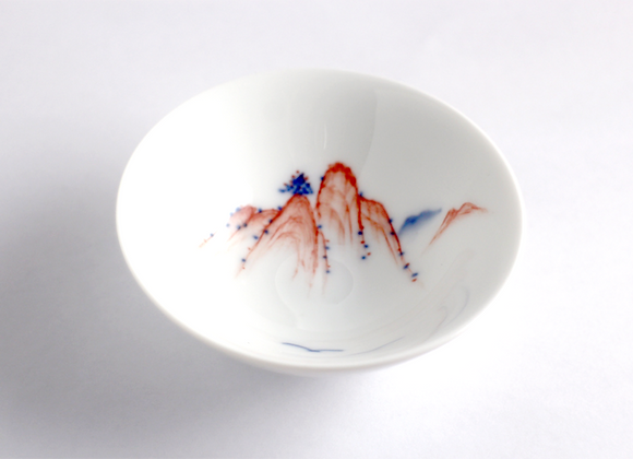 Hand painted Landscape Teacup 彩繪山水杯