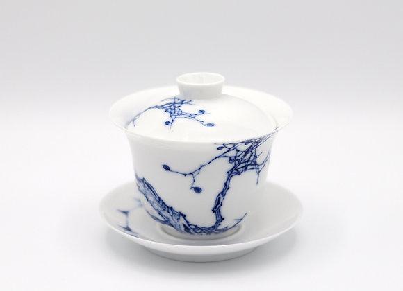 Blue and White Porcelain Gaiwan- Autumn rhyme