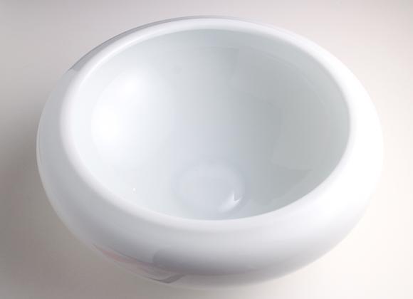 White Porcelain Tea Basin  白色水方