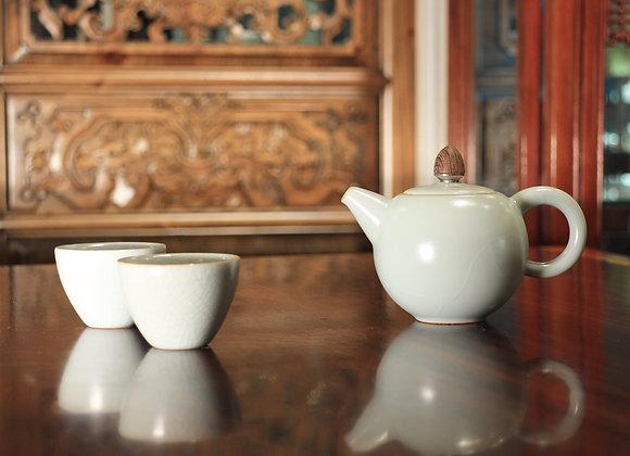Blue Ice Cracked Glaze Tea Set 裂釉茶具組