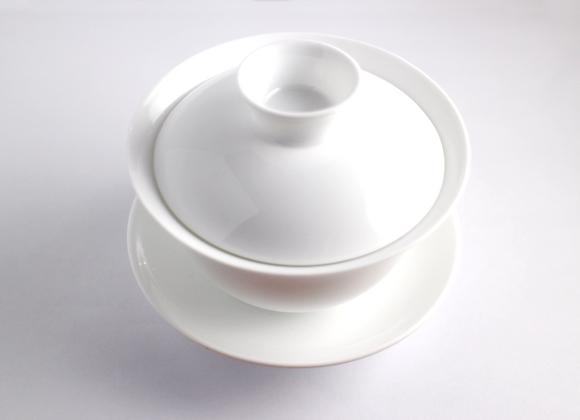 Basic White Wide Gaiwan   蓋杯(白)