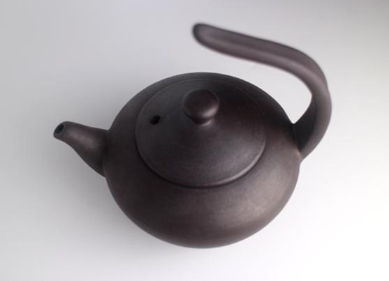 Handmade Energy Clay Wing Handle Pot   手拉能量飛天壺