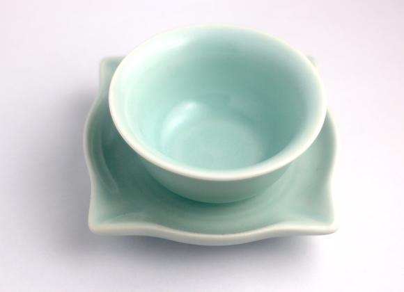 Ru Yao Glaze Teacup with Saucer   汝窯茶杯