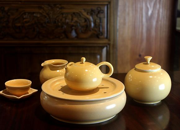 Eggnog color glazed Tea Set 蛋蜜釉茶具組