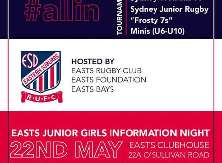 Easts Junior Girls Info Night
