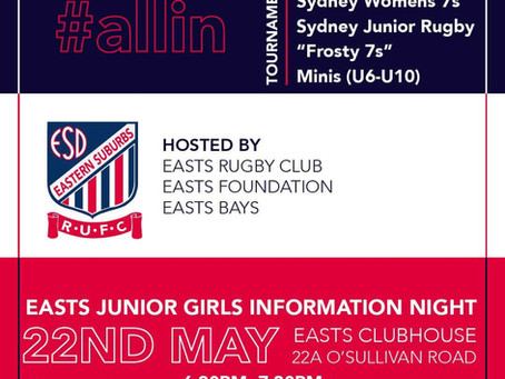 Easts Junior Girls Info Night