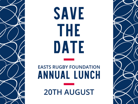 EASTS RUGBY FOUNDATION ANNUAL LUNCH
