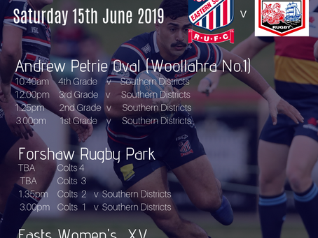 Round 11  |  Easts v Southern Districts