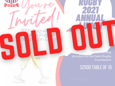 Annual Lunch Sold Out
