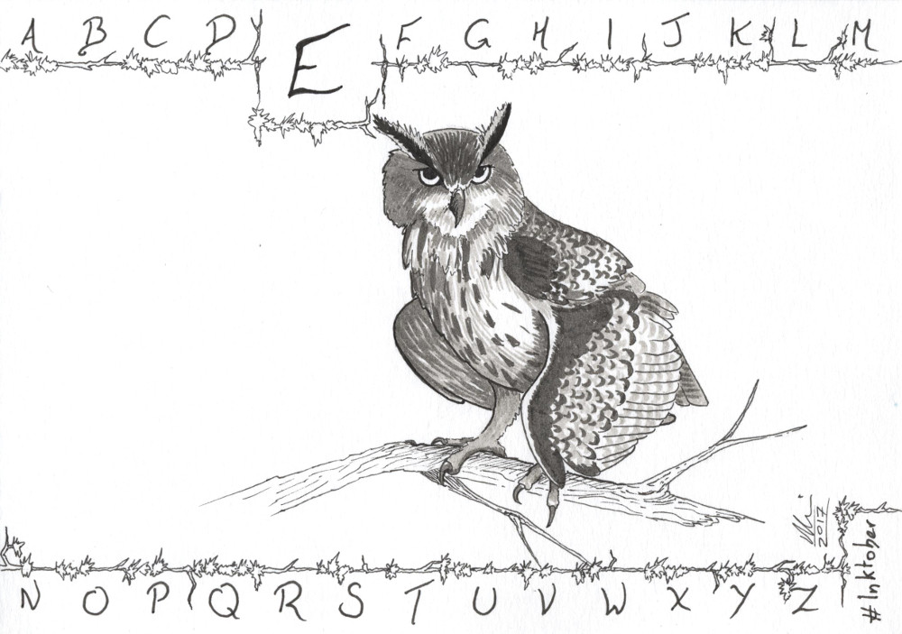 E is for Eagle Owl