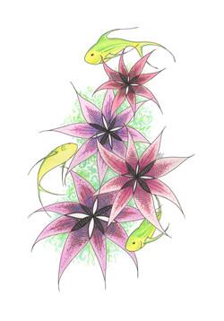 Flower Fish - Neon Lights
