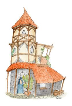 Wobbly wizard house