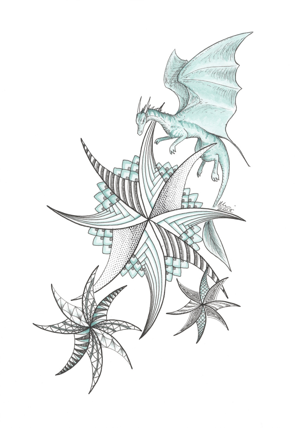 Dizzy pinwheels in green