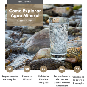 Como explorar água mineral: entenda passo a passo