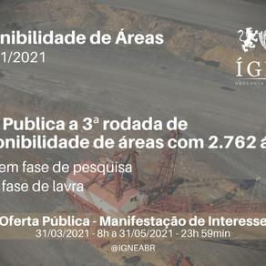 ANM Publica 3ª Rodada de Disponibilidade de Áreas de Mineração
